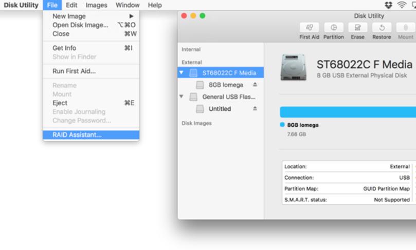 آموزش پیکربندی نرم افزار RAID بر روی disk utility در macOs