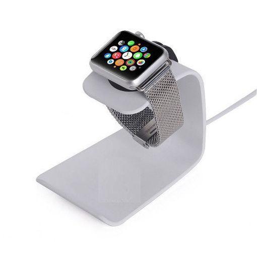 خرید استند شارژ اپل واچ و آیفون Samadi Apple Watch iPhone Aluminium Charging Stand