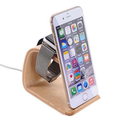 خرید استند شارژ اپل واچ و آیفون Samdi Wooden Apple Watch iPhone Charging Stand