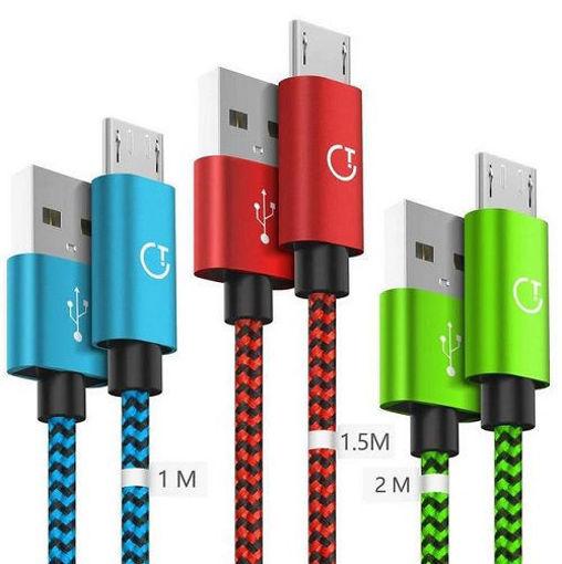 خرید کابل شارژر رنگی آیفون آیپد Dual Sided Braid Color Lightning Cable